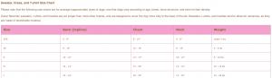 Oscar Newman Tee Size Chart