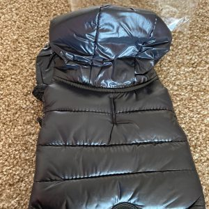 clearance black puffer dog coat