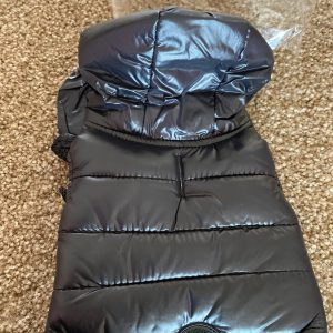 clearance black puffer dog coat