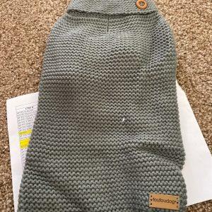 clearance grey crochet dog sweater