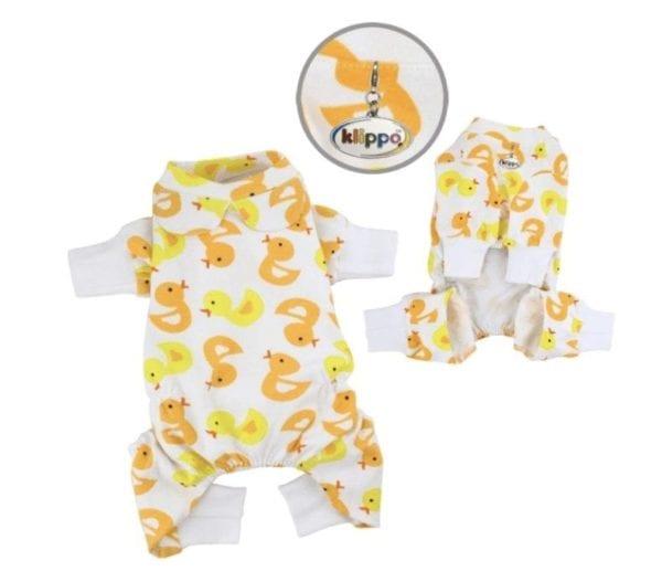 Yellow Ducky Fleece Pajamas