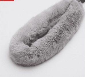 Natural Fur Strap n Harness