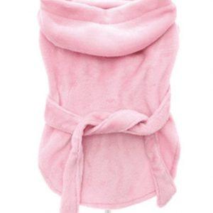 pink bathrobe by urban pup