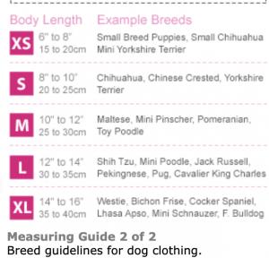 urban pup bathrobe sizing guide