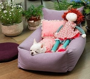 Linen bed by Louis Dog