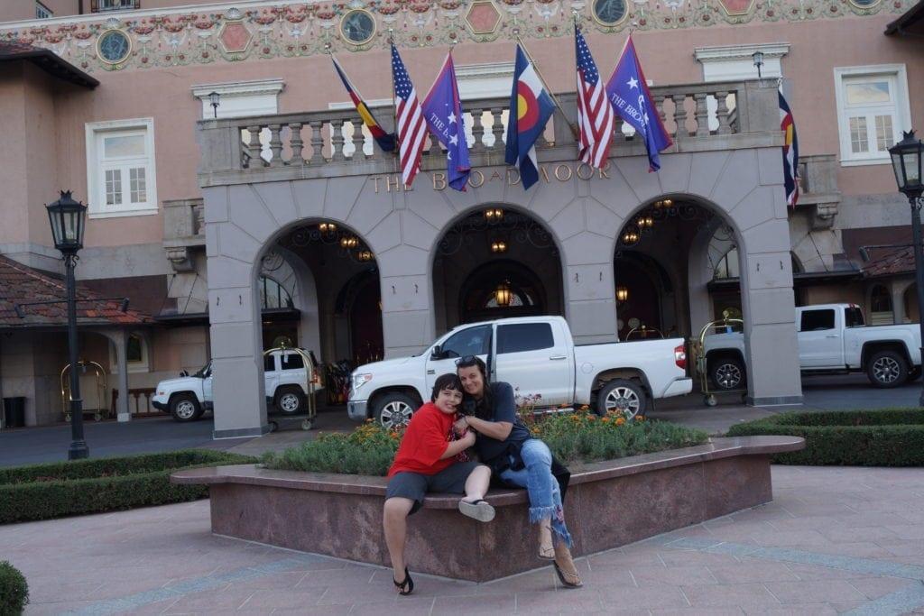 Cindi Cyrus and Hope at the Broadmoor
