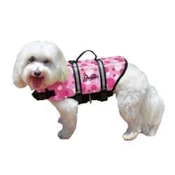 pink bubbles pet life jacket