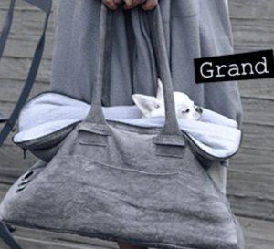 greg bag in seersucker