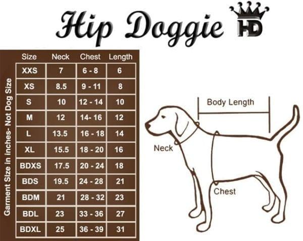 hip doggie size chart