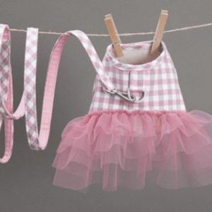 Pink Check Harness by Louis Dog
