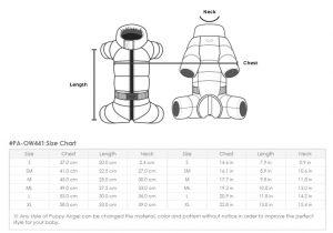 pa-ow441 size chart