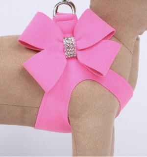 clearance perfect pink nouveau bow step in harness
