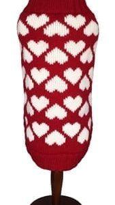 dallas dog heart sweater
