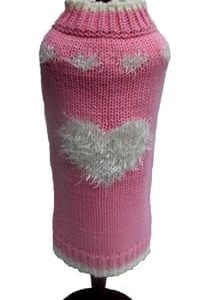 Sweatheart Sweater by Dallas Dog in Pink