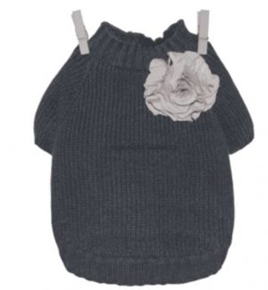 Navy Cashmere Corsage by Louisdog