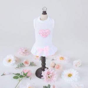 pink puff heart dress
