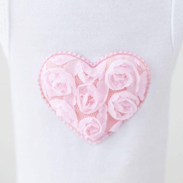 pink puff heart dress