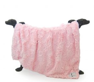 Hello Doggie Baby Pink Bella Blanket