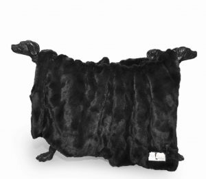 Hello Doggie Black Bella Blanket
