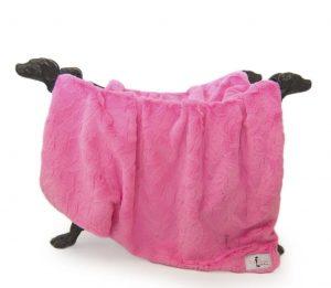 Hello Doggie Fuchsia Bella Blanket