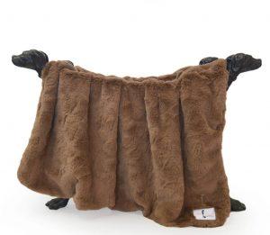 Hello Doggie Mocha Bella Blanket