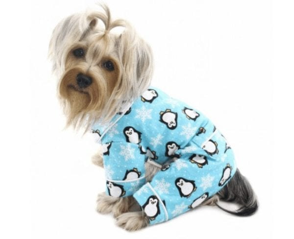 Penguin and Snowflake Fleece Pajamas