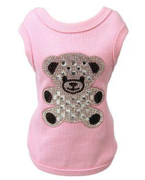 Teddy Bear Tank in Pink