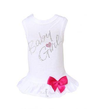baby girl dress in white
