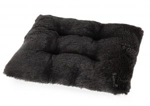 black shag pillow by hello doggie