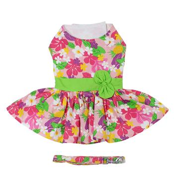 Pink Hawaiian Floral Dress