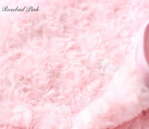 rosebud blanket in pink