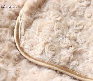 rosebud blanket in tan