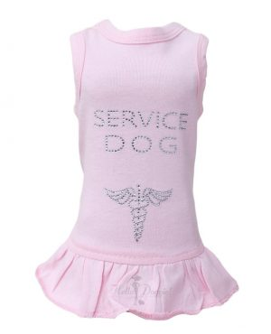 service dog pink dress by hello doggie