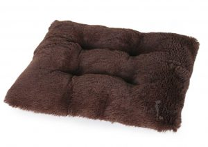 shag pillow in chocolate by hello doggie