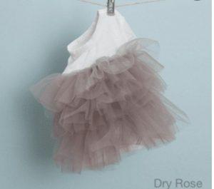 organic tulle dress in dry rose