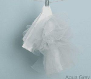 organic tulle dress in grey