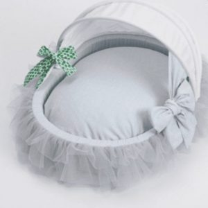 amazing tulle cradle in blue