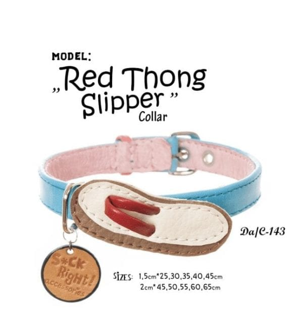 red thong slipper collar