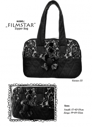 film star zipper bag