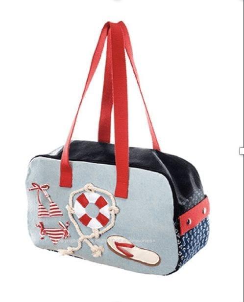 red thong slipper zipper bag