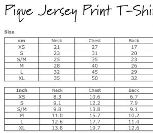 Pique Jersey Print Tee
