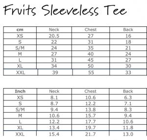 Fruits Sleeveless Tee