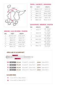 wooflink size chart