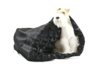 black with black curly cuddle bed