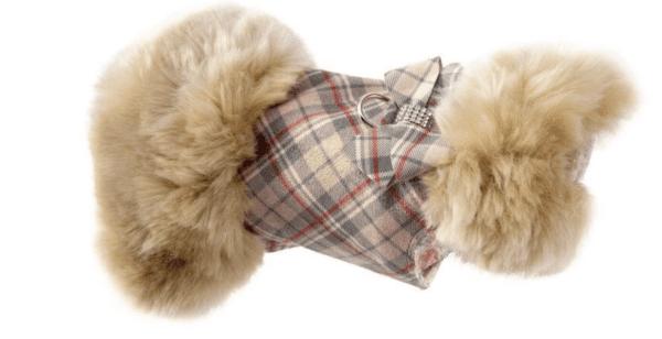 Scotty Plaid Fur Coat