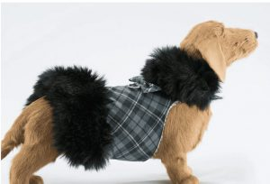 Scotty Plaid Fur Coat