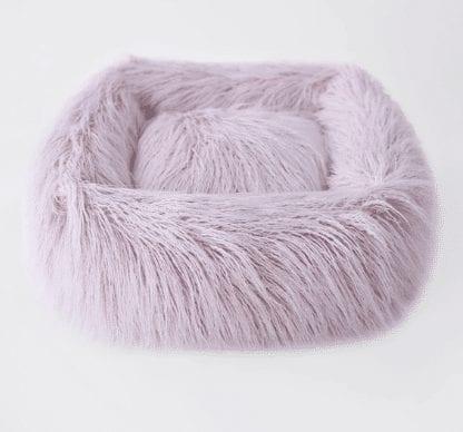Himalayan Yak Dog Bed in Blush