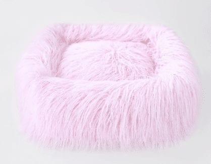 Himalayan Yak Dog Bed in Pink