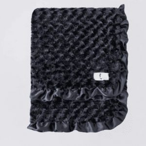 Baby Ruffle Dog Blanket in Black