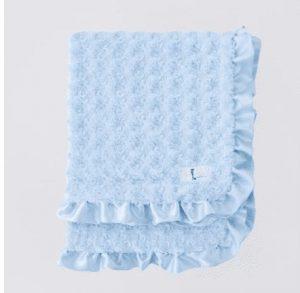 Baby Ruffle Dog Blanket in Baby Blue